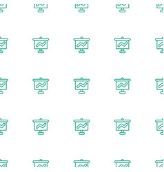 graph on board icon pattern seamless white vector image