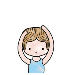 Grated boy practice ballet with t-shirt and vector
