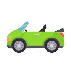 Green Cabriolet Icon Isolated on White Background vector
