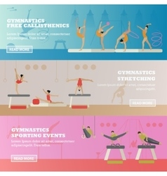 Gymnastic sport competition arena banner vector