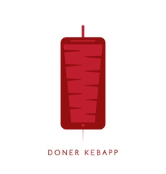 gyros doner kabob with smartphone app isolated vector image