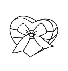 hand drawn fashion romantic gift box isolated on vector image