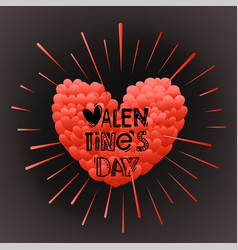 happy valentines day greeting greeting card vector image