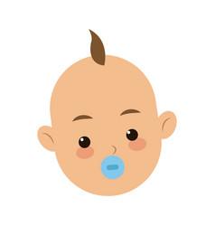 head face baby boy son image vector image
