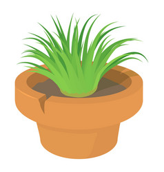 home plant icon cartoon style vector image