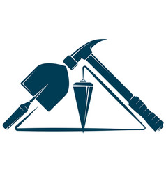 House construction and repair symbol with tool vector