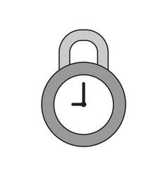 icon concept closed clock padlock vector image
