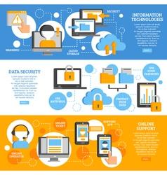 Information technologies horizontal banners vector