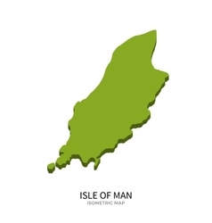 Isometric map of Isle of Man detailed vector image