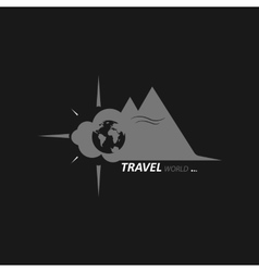 Journey across the globe vector