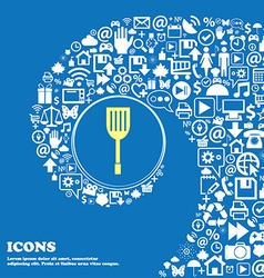 Kitchen appliances icon sign Nice set of vector image