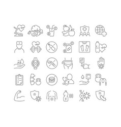 Line icons world health day vector