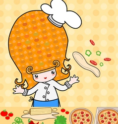 Little pizza vector image