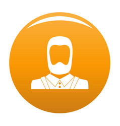 man avatar icon orange vector image