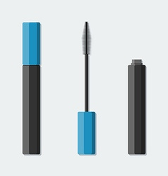 mascara in flat style vector image