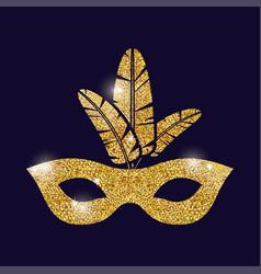 Mask carnival festival design vector