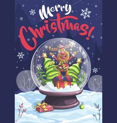 Merry christmas funny cartoon vector