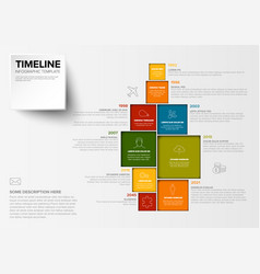 Minimalist colorful timeline template vector