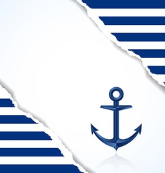 Nautical background vector