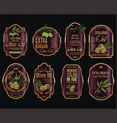 olive oil retro vintage background collection 6 vector image