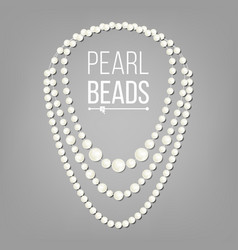 Pearl necklace jewel string elegant vector
