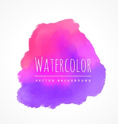 Pink purple watercolor stain vector