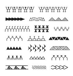Polynesian tattoo indigenous primitive art vector