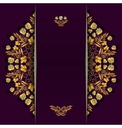 Rich background with golden floral and berry vector image