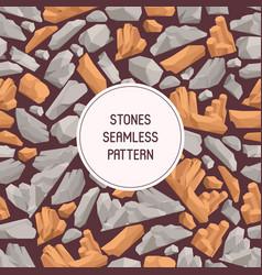 Rock stones cartoon flat seamless pattern stones vector
