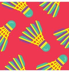 Seamless Badminton Pattern vector image