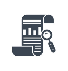 seo report glyph icon vector image
