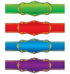 shapes and ribbons vector image