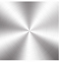 Silver metallic radial gradient with scratches vector