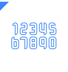 sport numbers set logo design template round vector image
