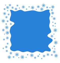 square christmas border or frame with random vector image