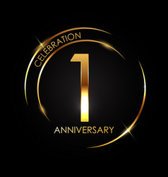 template 1 years anniversary vector image