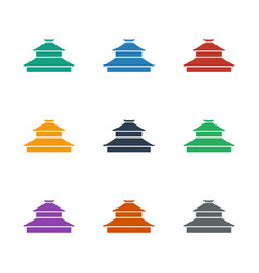 Temple icon white background vector