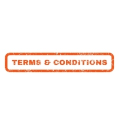 Terms Conditions Rubber Stamp vector