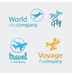 Travel logo set vector