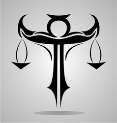 Tribal Libra Signs vector image