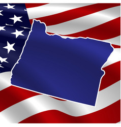united states oregon on usa flag map vector image