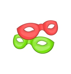 Venetian carnival mask icon cartoon style vector