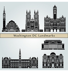 Washington V2 landmarks and monuments vector
