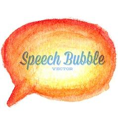 Watercolor drawn orange speech bubble vector