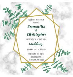 wedding inviration with eucalyptus vector image