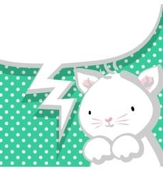 White cute little kitty marine backdrop vector image