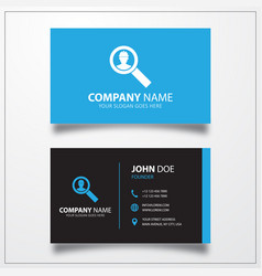 Worker search icon business card template vector