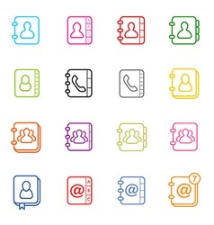 All Kinds of Contact Us Address Book Icons in vector image