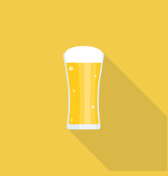 beer icon with long shadow vector image