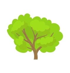 Green tree icon in cartoon style vector image vector image